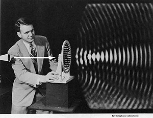 A visible pattern of sound waves
