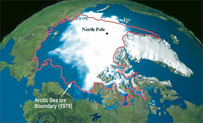 Arctic ice cap is melting...