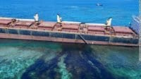 The Solomon Trader ran aground in Kangava Bay at Rennell Island